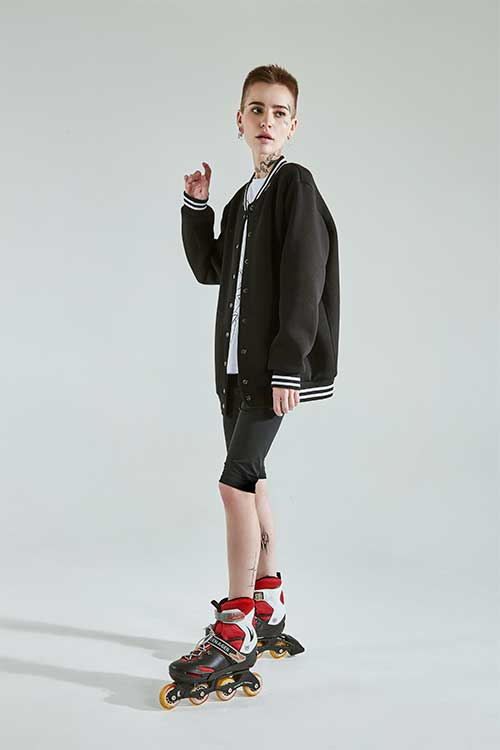 Alonova Black bomber on the mesh