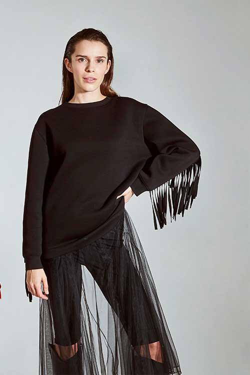 Black bird Sweatshirt alonova