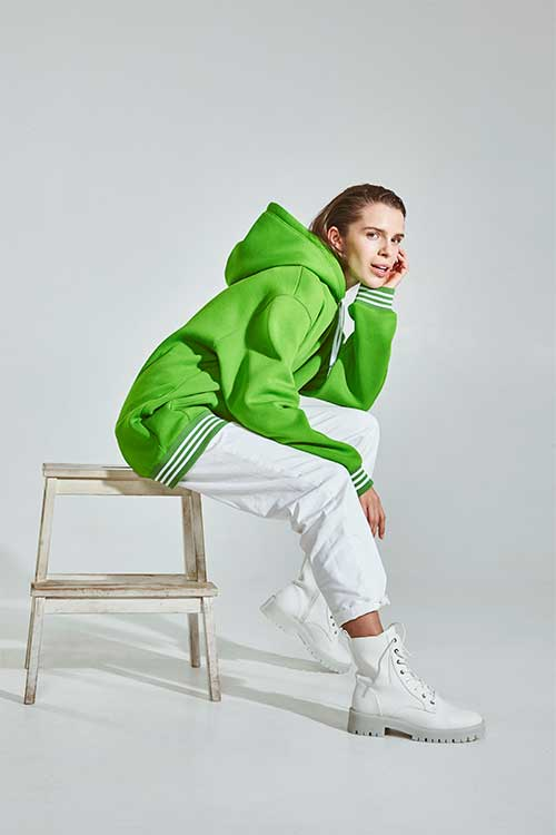 Green apple Hoodie Alonova